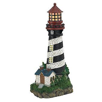 Summerfield Terrace Solar Lighthouse Garden Light, Paket med 1