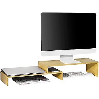 SoBuy BBF07-N Diseño Monitor Riser para 2 Monitores