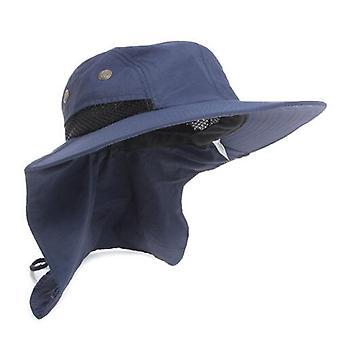 Extérieur Sun Hat Neck Flap Boonie Hat Pêche Randonnée Safari Sun Brim Bucket Bush Suncap