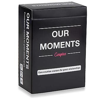 Vårt øyeblikk par for kjærlighet par kortspill