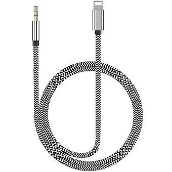 Câble auxiliaire pour iphone 12 Adaptateur vers 3.5mm Adaptateur de téléphérique auxiliaire pour iphone 11 Pro / 11 / xs Max / xs / xr / x / se / 9 Plus compatible avec l'autoradio / haut-parleur / headph