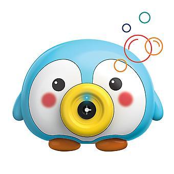 Little Blue Penguin Électrique Bubble Machine Musique Glow Automatique Enfants Bulle Soufflage Enfants Jouets