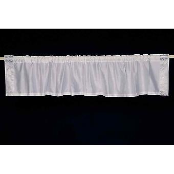White Silver - Rod Pocket Top It Off handmade Sari Valance - Pair