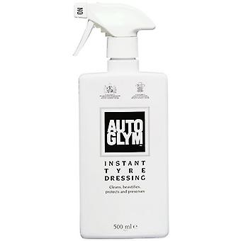 Autoglym Car Detailing Instant Tyre Dressing for Rubber Cleansing and Shine in 500 ml