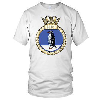 Royal Navy HMS Scott damer T skjorte