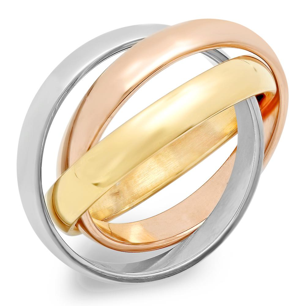 Ladies Intertwined Band Rings
