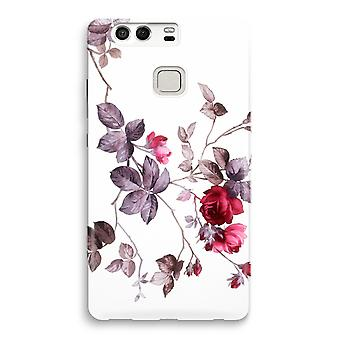 Huawei P9 fuld Print sag - smukke blomster