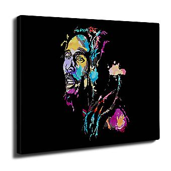 Marley Bob Colorful Wall Art Canvas 40cm x 30cm | Wellcoda
