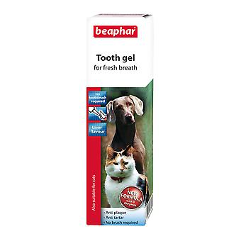 Beaphar Tooth Gel for All Sizes of Dogs & Cats, Liver Flavour Anti-Plaque