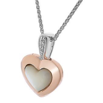 Orphelia plata 925 cadena con colgante corazón Roseplated fregona y circonio ZH-7289/RG