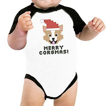 Merry Corgmas Corgi animali camicia cotone bianco Natale cane proprietario regalo