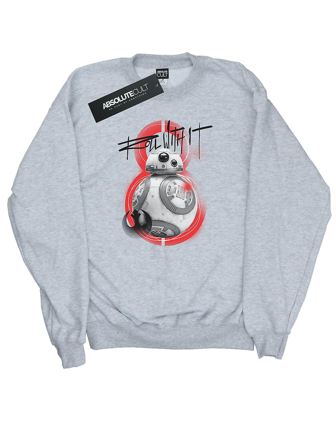 Star Wars Women's The Last Jedi BB-8 Roll With It Sweatshirt