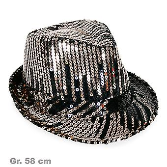 Black and silver sequin Hat Hat hat of shiny sequins