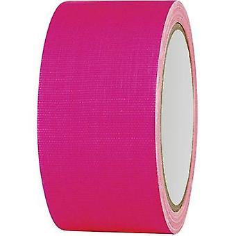 TOOLCRAFT 80FL5025PC 80FL5025PC Cloth tape 80FL5025PC Neon pink (L x W) 25 m x 50 mm 1 Rolls
