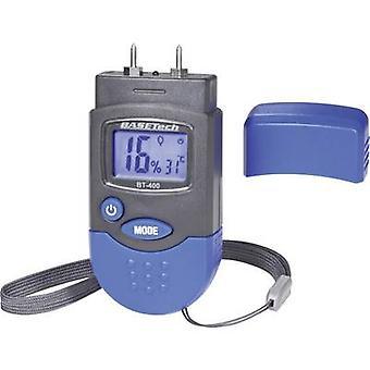 Basetech BT-400 Moisture meter Building moisture reading range 0.2 up to 2.0 vol% Wood moisture reading range 6 up to 44 vol% Temperature reading