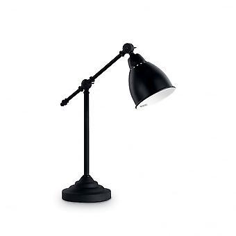 Ideal Lux Newton Tisch Lampe schwarz