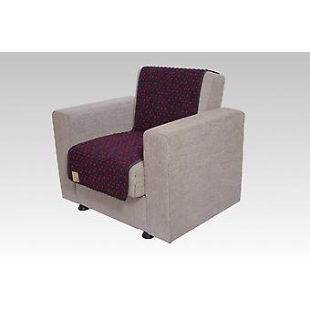 Seat saver wool dots anthracite 175 cm x 47 cm