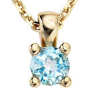 Trailer 333 /-g-Blue Topaz pendants, Blue Topaz, gold Blue Topaz pendant gold