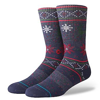 Stance Prancer Crew Socks in Navy