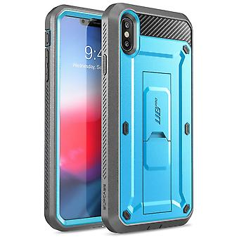 iPhone XS Case, [Unicorn Beetle Pro Series] Full-Body Rugged Holster Case with Built-In Screen Protector 2018 (Blue)