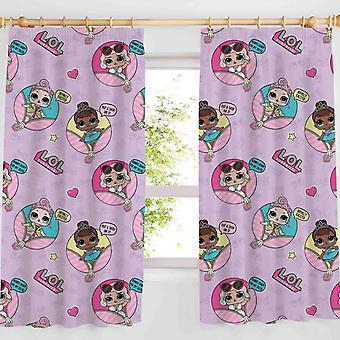 L.O.L. Surprise! LOL Glam Curtains Pink 168cm x 183cm