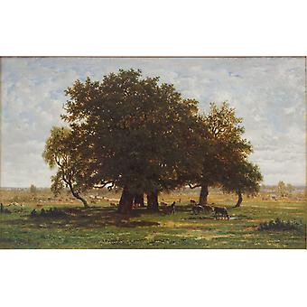 Group of Oaks at Apremont, Theodore Rousseau, 60x40cm