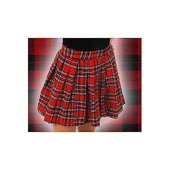 Kvinder kostumer tjekket plisseret nederdel