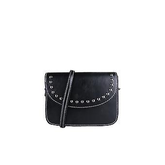 Lovemystyle sort Side taske med hvide syninger og Metal Studs