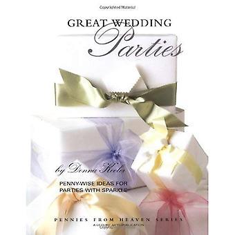 Stora bröllopsfester: Påpekandet idéer för parterna med glitter