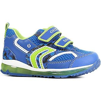 Geox Boys Todo B9284A Trainers Royal Lime