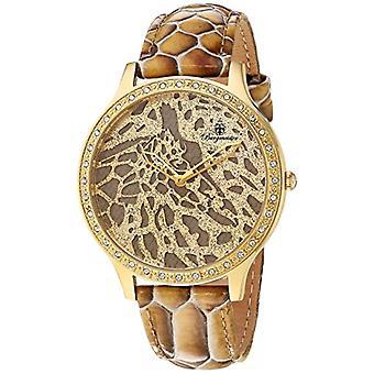 Burgmeister-quartz klocka med brun läderrem analoga Visa 805-275 BM