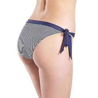 Aubade NU20 Women's Coconut Groove Marin Navy Blue Geometric Swimwear Beachwear Reversible Bikini Bottom