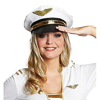 Officier blanc bonnet aviateur