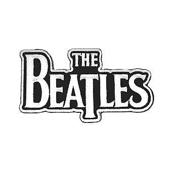 Beatles patch Classic Drop T Band logo valkoinen uusi virallinen Die Cut Ompele