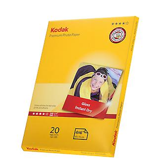 Kodak Premium Inkjet Photo Paper (20 Sheets, A6, 240 g)