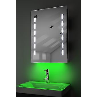 Armoire avec LED sous éclairage, capteur & interne rasoir k355w de désembuage