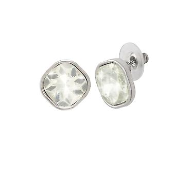 Eternal Collection Veronique Clear Crystal Silver Tone Stud Pierced Earrings