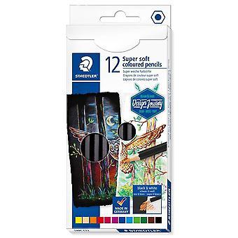 Staedtler Design Journey Super Soft Coloured Pencils Box Of 12