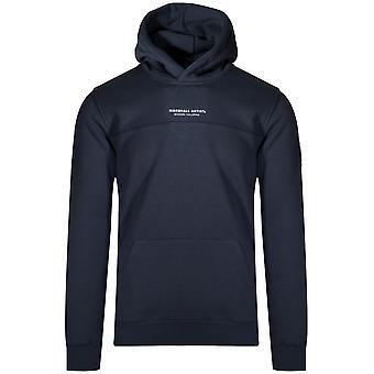 Marshall Artist Navy Fleeced Hooded Sweatshirt