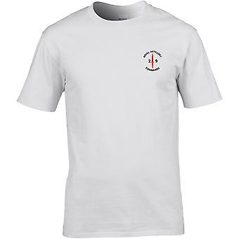 Royal Artillery 29 Commando dolk-lisensiert britiske hæren brodert Premium T-skjorte
