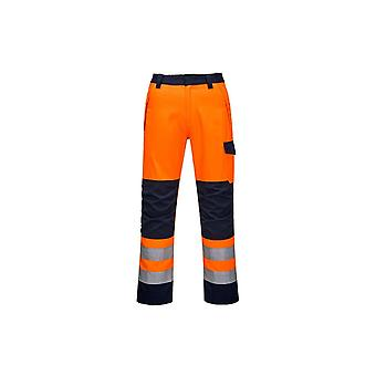 Portwest modaflame ris orange/navy  trouser mv36