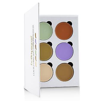 Bellapierre kosmetikk fargekorrigering concealer palett (6 ganger concealer) 24g/0.8 oz