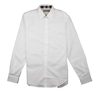 Burberry Cambridge Langarm Shirt weiß