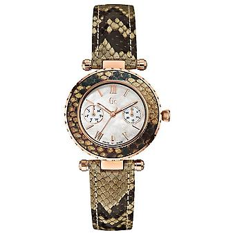 R. gc diver chic python Swiss Quartz Analog Woman Watch with X35006L1S Cowskin Bracelet