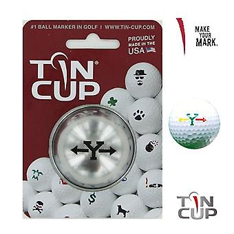 Tin Cup Golf Ball Marking System Alpha Players Y
