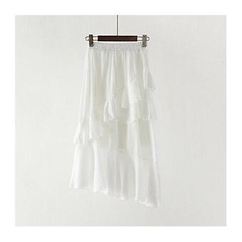 Mid-cielę Długie nieregularne falbany Spódnica