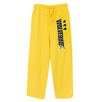 X-Men Wolverine Cyber Yellow Unisex Sleep Pantalones