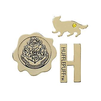 Harry Potter Lapel Pin House Hufflepuff Emblems nowy oficjalny metal 3 Pack