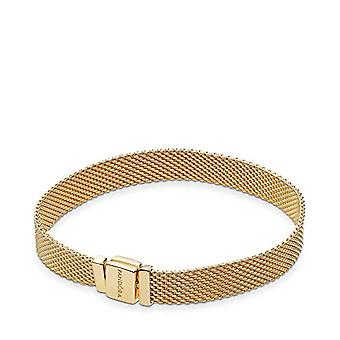 Pandora Bracelet with gold-plated woman's nameplate - 567712-17