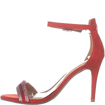 Material Girl Womens Blaire9 Fabric Open Toe Special Occasion Ankle Strap San...